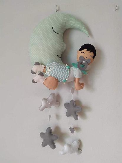 Κρεμαστό Τοίχου Φεγγαράκι <<baby dreams>>