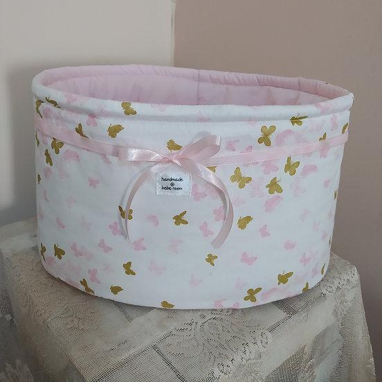Πάνινο Καλάθι Καλλυντικών Μπάνιου<<Butterflies>>