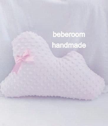 Διακοσμητικό Μαξιλαράκι <<pink cloud minky>>