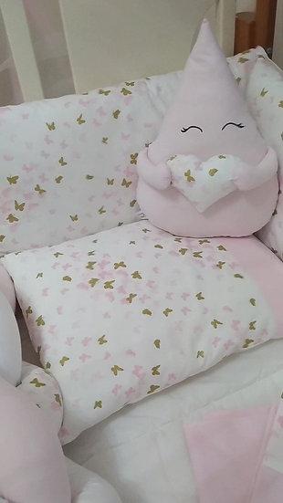 Κουνουπιέρα Κούνιας  <<ροζ & glitter πεταλουδίτσες>>