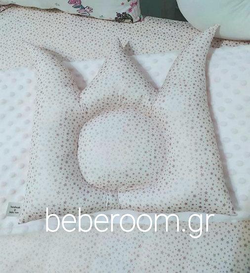 Μαξιλαράκι Ύπνου Κορώνα  Pink Stars