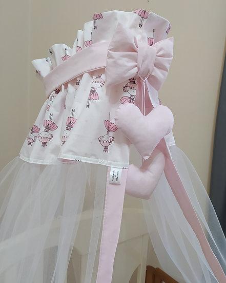 Κουνουπιέρα Κούνιας  Small Pink Princesses