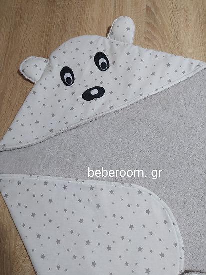Πετσέτα  Μπάνιου Με Κουκούλα  2πλής  Όψης <<Panda>>