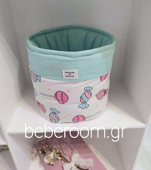 Στρόγγυλο Καλαθάκι Καλλυντικών Μπάνιου < lollipop >