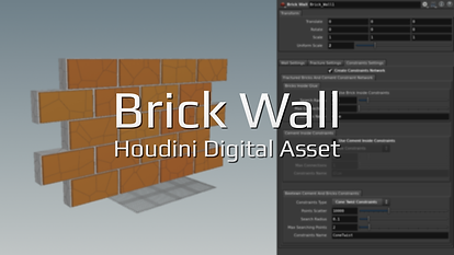 Fluidworks | Brick Wall Free Houdini Asset