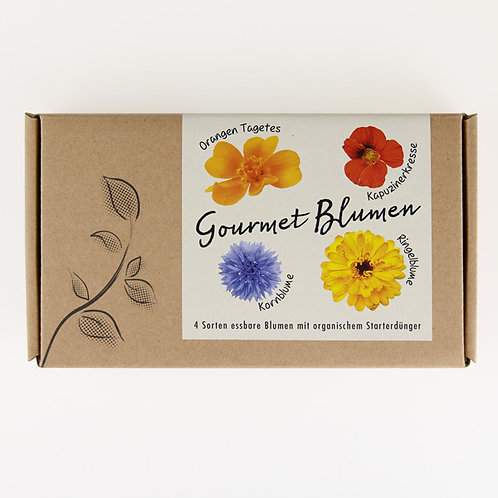 "Geschenkbox ""Gourmet Blumen"""