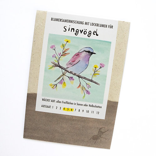 Lockblumen für Singvögel