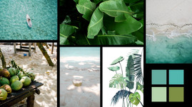 Moodboard identité visuelle du Royal Beach Hotel & Spa
