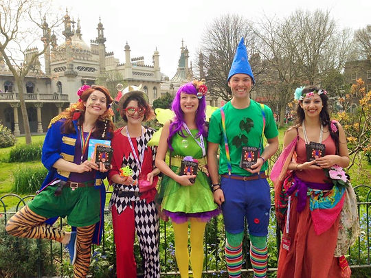 Twig the Pixie, Potpourrina Fairy and friends at Royal Pavilion Gardens