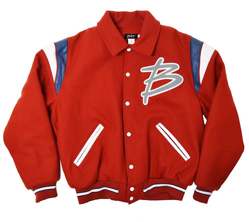 BakeryHNY B Chenille Wappen Melton wool Bomber Jacket