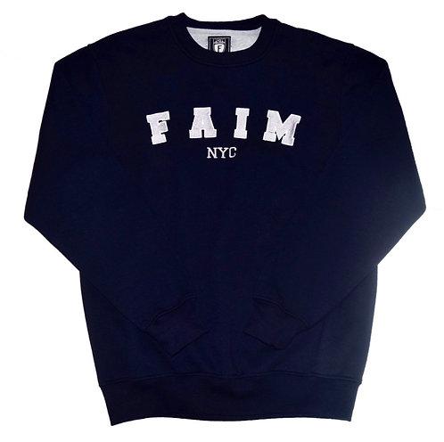 FAIM NYC Arch Wappen logo Crew neck Sweat