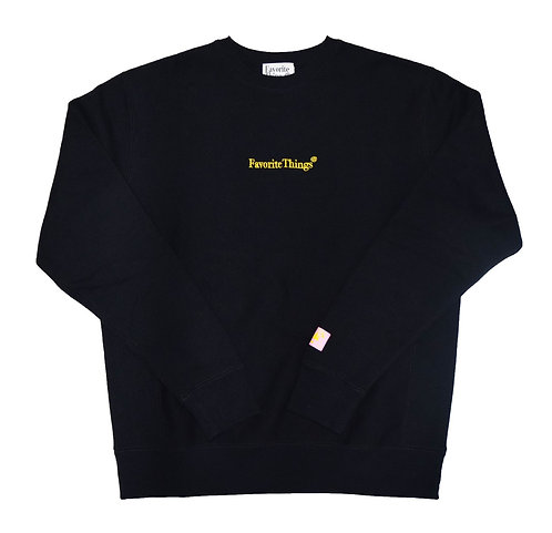 Favorite Things Fit into Lifestyle Embroidery logo Crewneck Sweat