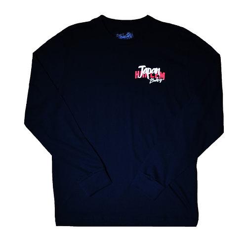 Bakery HNY Harlem to Japan Long sleeve T-shirts(Black)