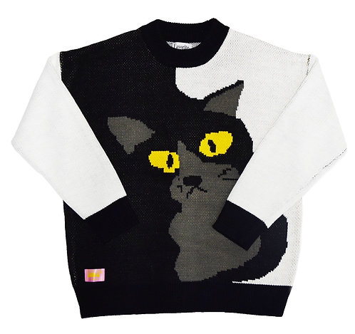 Favorite Things Fit into Lifestyle FlyingCat Knit Sweater