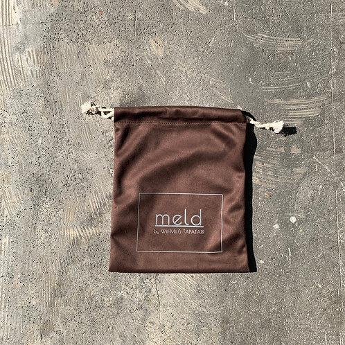 meld 巾着 bag (DARK BROWN)