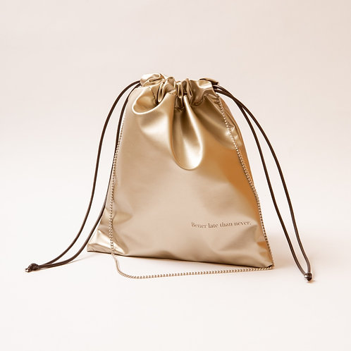 FAKE LEATHER PURSE(gold)
