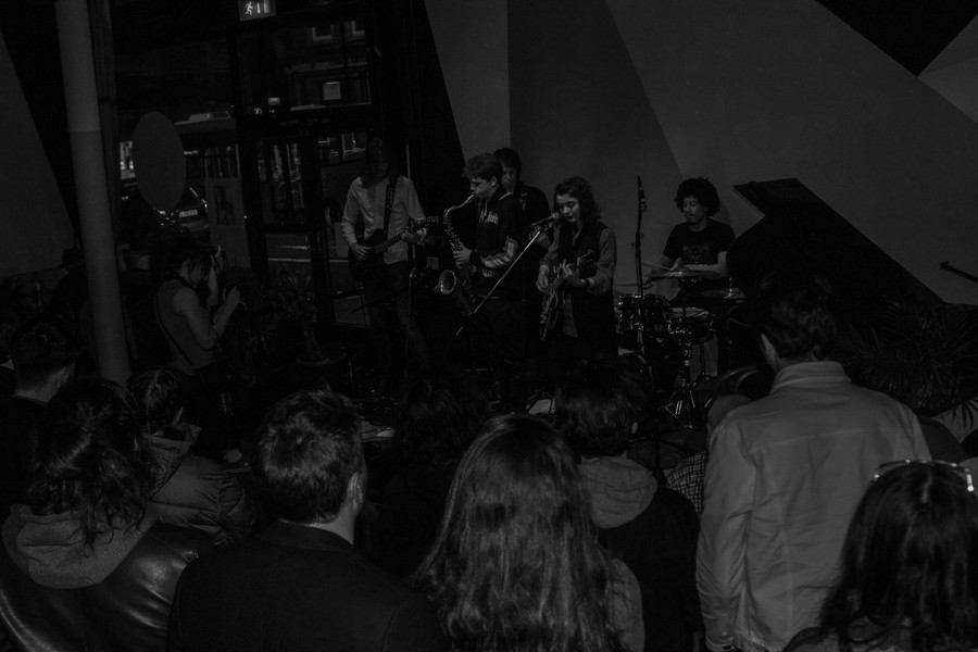 Taken by Rhiannon Cobb at The Empire Bar, Hackney, 29/02/20. Featuring Salvador Sin (James Finegan) on saxophone.