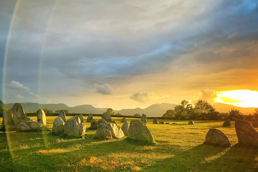 Casterigg Stone Circle at Sunset, Lake District