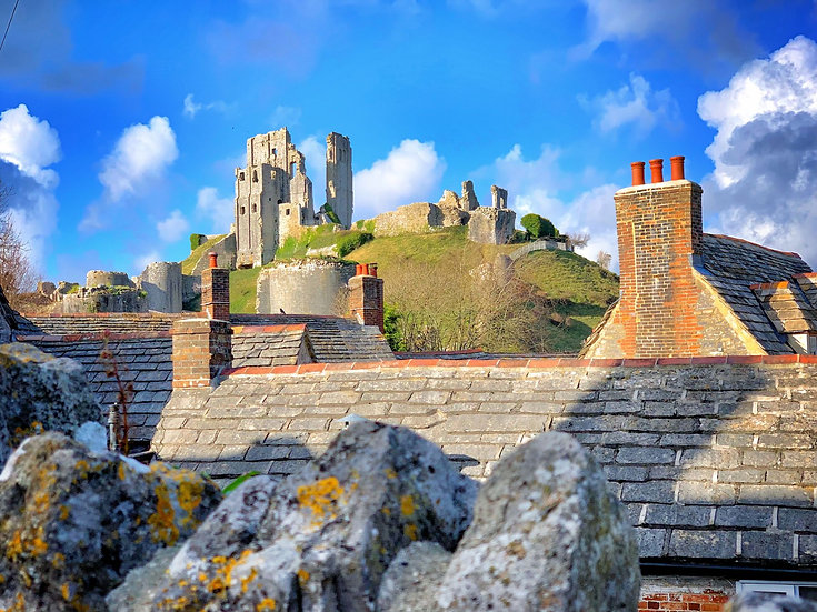Rooftops Towards Corfe Castle