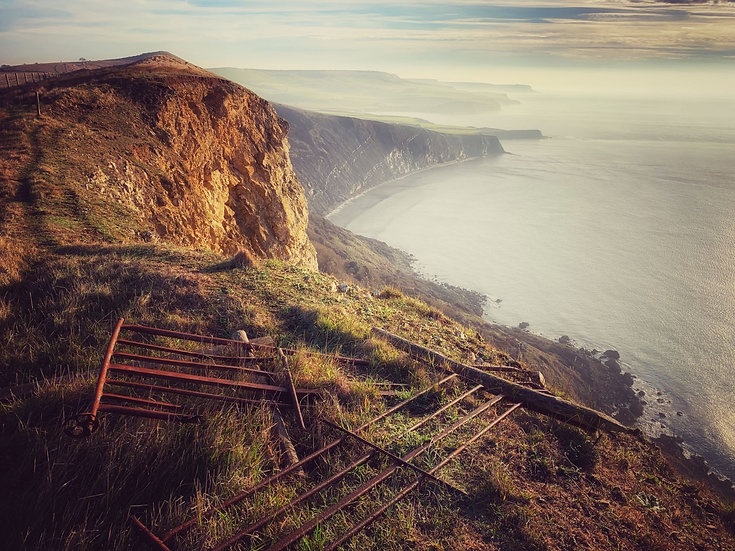 Winter Mists on Gad Cliff