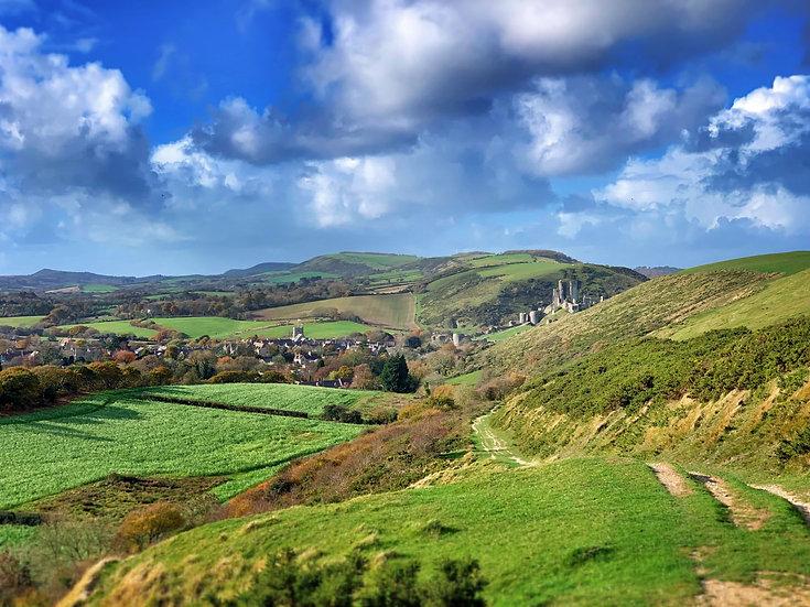 Corfe Castle and the Purbeck Ridge