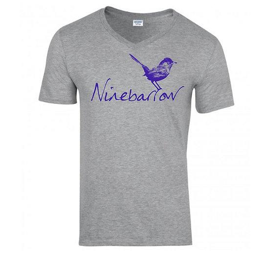 Light Grey Dartford Warbler V-Neck T-Shirts