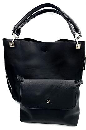 Grand sac double noir
