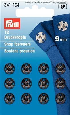 Boutons-pression métal  9mm