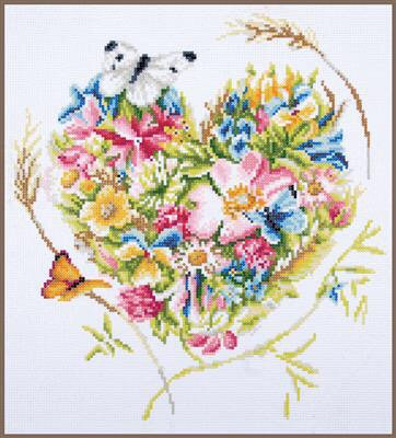 Kit diamond painting  Cœur de fleurs
