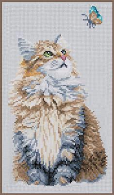 Kit diamond painting Chat et le papillon