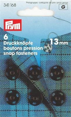 Boutons-pression métal 13 mm