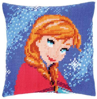 Kit coussin au point de croix Disney Reine des neiges - Anna
