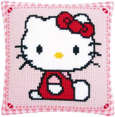 Kit coussin au point de croix Hello Kitty.
