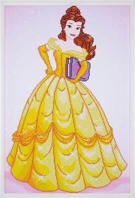 Diamond Painting Kit Disney Princess - Belle et la Bête