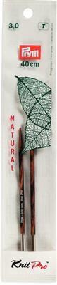 Pointes d'aiguilles à tricoter  courte en bois naturel  Knit Pro Prym