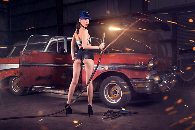 Chevrolet Nomad with Keara Darling - House of Hotrods