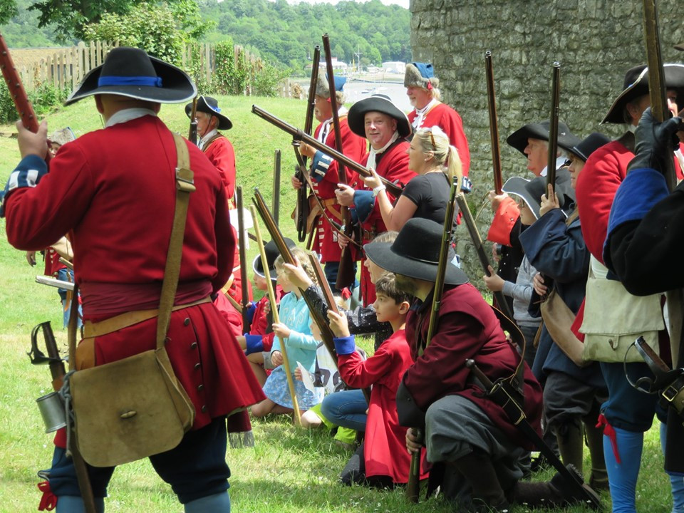 Children's drill at Upnor Castle