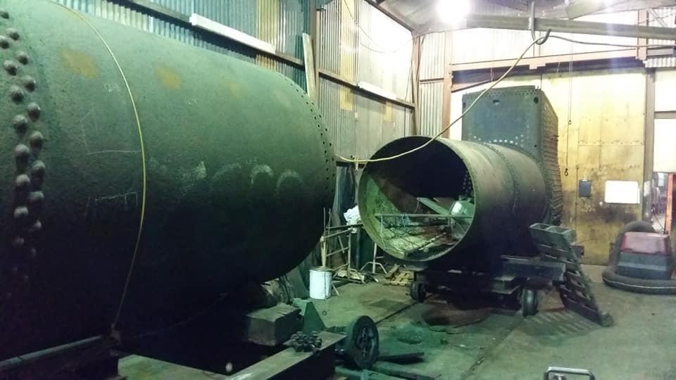 5532's boiler alongside 5539's boiler.