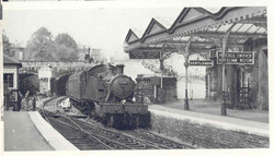 5532 arrives at Clifton Down in 1954