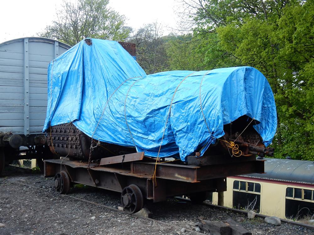 5532's boiler, mostly dismantled.
