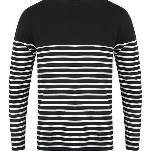 Breton Long Sleeve T-shirt - Navy (TRADE)