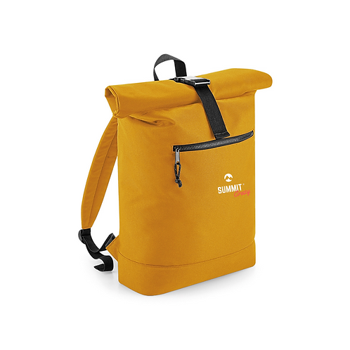 Recycled Roll Top Backpack - Mustard