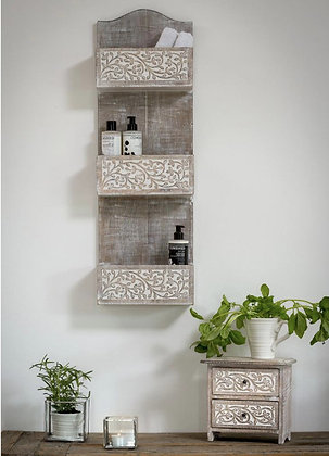 White Leaf Storage Unit