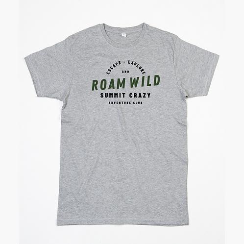 Roam Wild Tee - Heather Grey