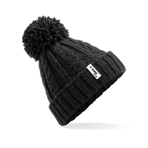 Cable Knit Beanie - Black (TRADE)