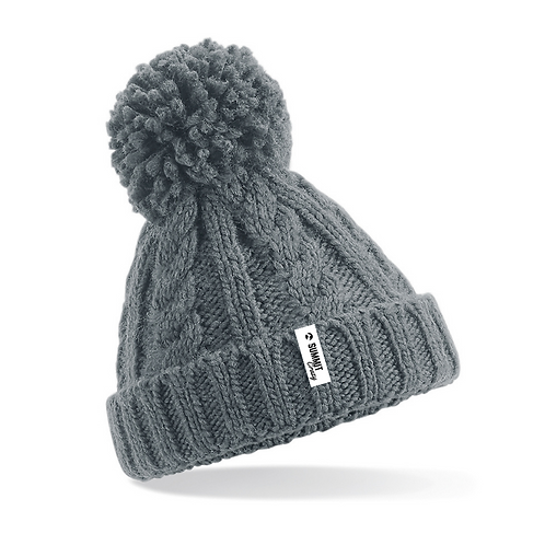 Infant's Cable Knit Beanie - Grey