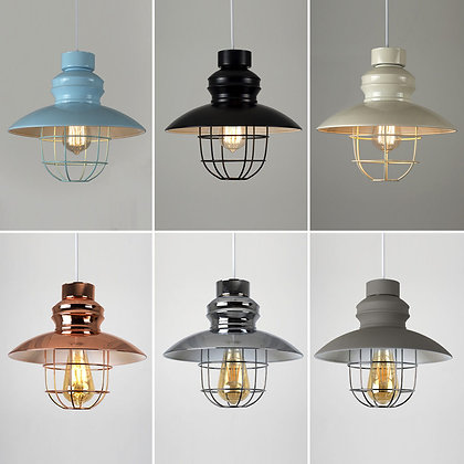Caged Light Shade - Range of colours