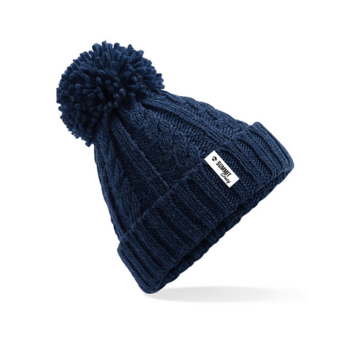 Cable Knit Beanie - Navy (TRADE)