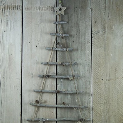 Hanging Twig Christmas Tree