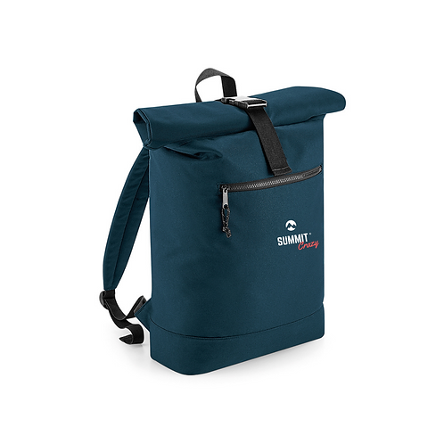 Recycled Roll Top Backpack - Blue